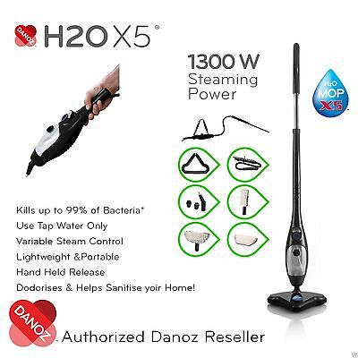 AU214.45 • Buy GENUINE✓ Multi Function H2O X5 Elite Steam Mop BLACK 5 In 1 Cleaner DANOZ✓ H20