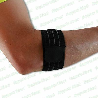Superior Elastic Tennis Golfer Elbow Brace Support Strap Band Sleeve Tendonitis • 4.99£
