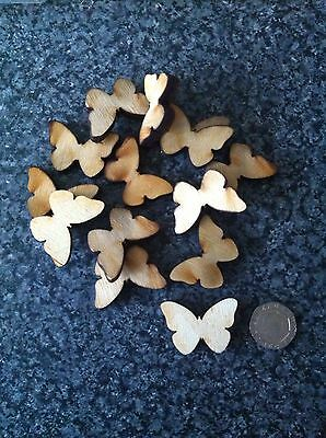 X25 Butterfly Wooden Shapes, Crafts, Cardmaking, Embellishments, Wedding, • 2.20£