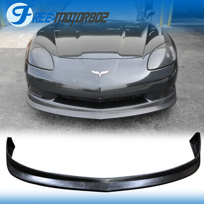 For 05-13 Chevy Corvette C6 Base Model Only Front Bumper Lip Kit Splitter PU • 119.50$