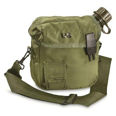 $ CDN24.12 • Buy New U.s Military Issue 2 Quart Collapsible Canteen + Cover + Strap Nbc Lid Cap