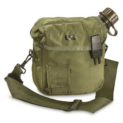$ CDN24.97 • Buy New U.s Military Issue 2 Quart Collapsible Canteen + Cover + Strap Nbc Lid Cap