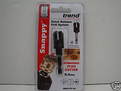 £12.85 • Buy Trend Snappy Pc38 Plug Cutter 9.5mm (3/8 ) Snap/pc/38