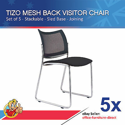 AU649 • Buy Mesh Back Visitor Chair, Sled Base, Office Chair, Stackable, Office Furniture X5
