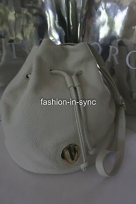 AU199.95 • Buy OROTON Form Bucket Leather Crossbody Bag White Smoke With Dustbag SALE
