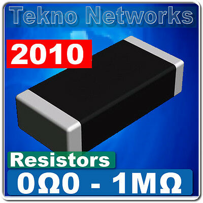 $5 • Buy 50X SMD / SMT 2010  Power Resistors - 50pcs / [ Range: 0 - 1M Ohm ]