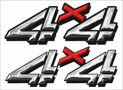 $11.97 • Buy 4X4 Replacement Logo / PAIR / Chrome EFFECT RX Vinyl Truck Graphic Decals