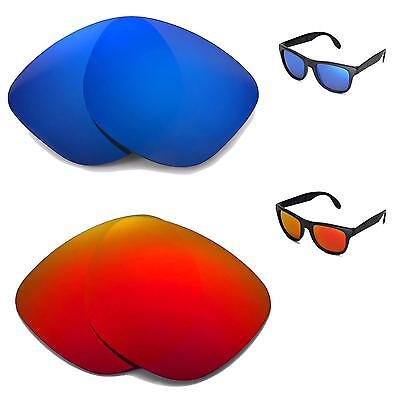 7104404422 New Walleva Polarized Fire Red+Ice Blue Lenses For Ray-Ban Wayfarer RB4105  54mm