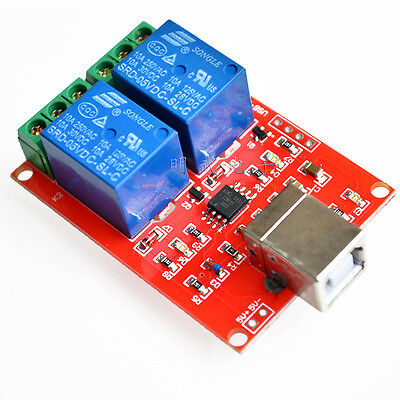 AU6.54 • Buy 1PCS 5V USB Relay 2 Channel Programmable Computer Control For Smart Home New