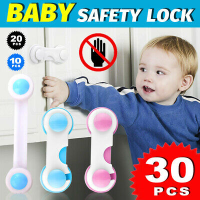 AU12.99 • Buy Child Kids Baby Safety Lock For Door Drawers Cupboard Cabinet Adhesive NEW