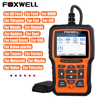 Foxwell NT510 Elite All System Diagnostic Scanner Tool ABS SRS OBD2 Code Reader  • 139$