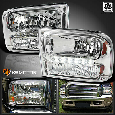 $115.38 • Buy Fits 1999-2004 Ford F250 F350 Superduty Excursion 1PC LED Strip Headlights Lamps
