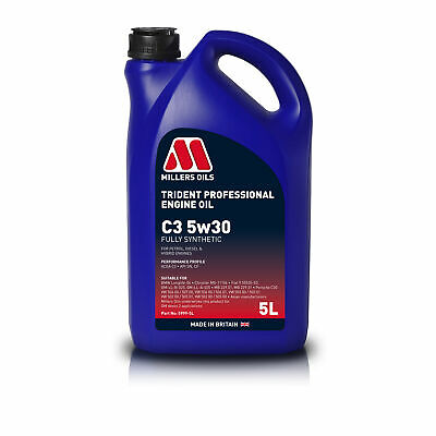 $ CDN38.24 • Buy Millers Oils Trident Longlife 5W30 Fully Synthetic Performance Engine Oil - 5 L