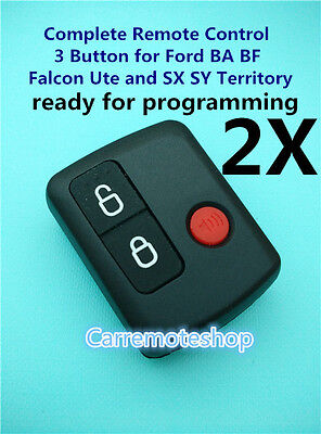 AU16.99 • Buy 2x Ford 3 Button Keyless Entry Remote Falcon BA BF Ute Territory XR6 XR8 FPV
