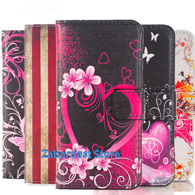 £4.80 • Buy New Leather Design Wallet  Book Stand Card Case Cover For All Mobile Phone