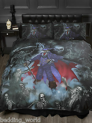 Super King Size Magistus Duvet Cover Set Alchemy Goth Skeleton Grim Reaper Skull • 50.99£