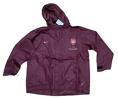 New NIKE ARSENAL Football Player Issue RAIN JACKET Red Currant XL • 79.99£