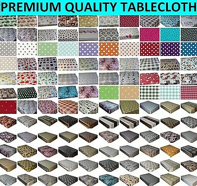 £12.39 • Buy Wipe Clean Tablecloth Wipeable Pvc Vinyl All Design & Colours Table Cover