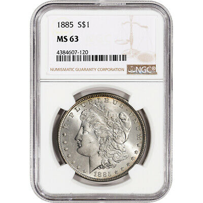 $54.50 • Buy 1885 US Morgan Silver Dollar $1 - NGC MS63