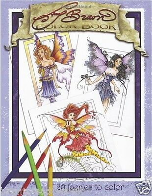 £9.99 • Buy Fairies 1 Sided Adult Colouring Book Creative Art Therapy Relax Fantasy Fairy
