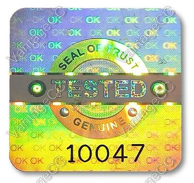 £7.99 • Buy LARGE TESTED Security Hologram Stickers Labels, 20mm Square, Warranty QC Checked