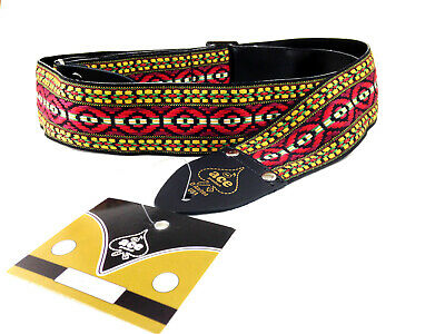 $ CDN32.93 • Buy Ace Guitar Strap  Vintage Style  Red Green Yellow Black Pattern Hippie