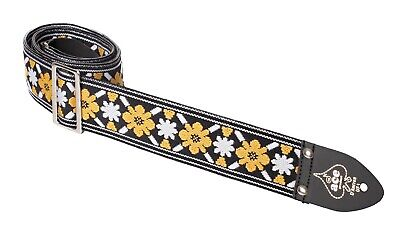 $ CDN34.96 • Buy Ace Guitar Strap  Vintage Style  Yellow And White Flowers Lennon Rooftop