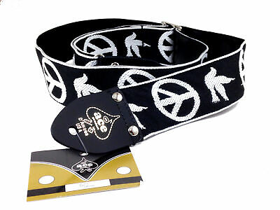 $ CDN32.87 • Buy Ace Guitar Strap  Vintage Style  Peace Doves Design  Black And White