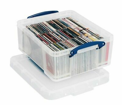 Really Useful Boxes 18 Litre CD DVD Office Stationery Kitchen Storage Box 18L • 9.48£