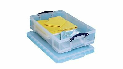 Really Useful Boxes 33 Litre Under Bed, 186 CD's, 44 DVD's Clear Storage Box • 12.40£