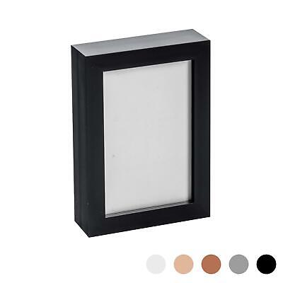 Box Picture Frame Deep 3D Photo Display 4x6 Inch Standing Hanging Black • 7.99£
