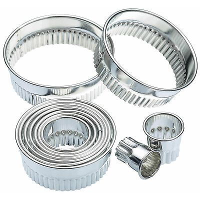 £13 • Buy Kitchen Craft 11 Fluted Round Biscuit,pastry  Cookie Cutters & Storage Tin