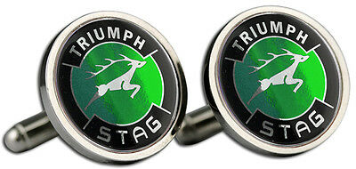 Triumph Stag Green Logo Cufflinks And Gift Box  • 8.99£
