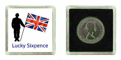 Good Luck Lucky Silver Sixpence Charm British Armed Forces Soldier Leaving Gift • 2.99£