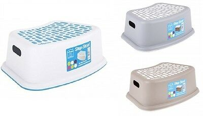 Step Stool Non Anti Slip Toilet Potty Training Kids Children Kitchen New Plastic • 6.95£