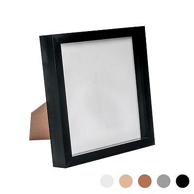 Box Picture Frame Deep 3D Photo Display 8x8 Inch Square Standing Hanging Black • 8.99£