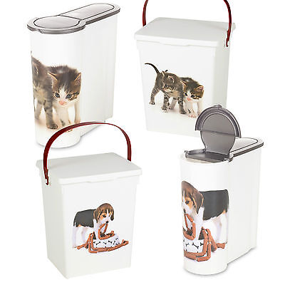 £6.79 • Buy Dog Cat Pet Food Storage Container Box Bucket Bin Table Top Kitchen Cereal Style