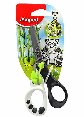 £3.29 • Buy Maped Koopy Children's Kid's Right Handed Spring Assisted Scissors - Green