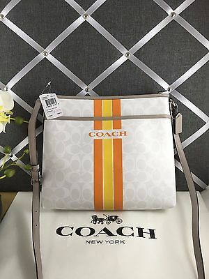 0162eb8aae NWT Authentic COACH COH VARSITY STRIPE FILE BAG Messenger Crossbody F38402  • 89.00