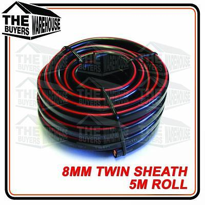 AU41.50 • Buy TWIN CORE 8MM CABLE X 5 METRE 5M BATTERY CARAVAN TRAILER 4X4 8 BNS WIRE SHEATH 2