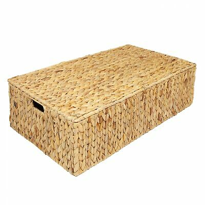 £29.99 • Buy Water Hyacinth Under Bed Storage Box Trunk Chest Basket, Large Or Extra Large