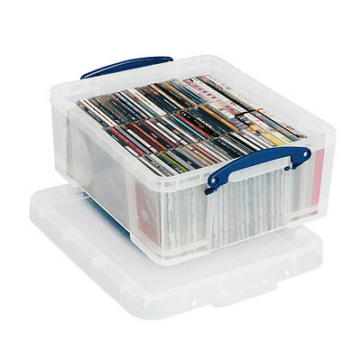 Really Useful Stackable 18 Litre CD/DVD Office Home Storage Box Free P&P On 3+ • 11.99£