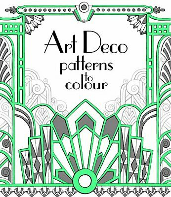 £4.49 • Buy Art Deco Patterns To Colour (Colouring Books) By Emily Bone Book The Cheap Fast