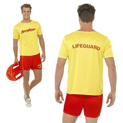 £22.99 • Buy 80s 90s Mens Baywatch Beach Licensed Official Fancy Dress Costume Stag Party