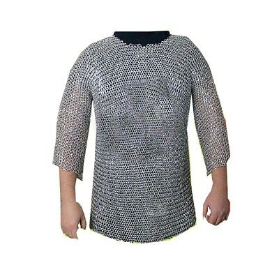 £34.90 • Buy Aluminium Chainmail Shirt Butted Aluminum Chain Mail Haubergeon Medieval Armour