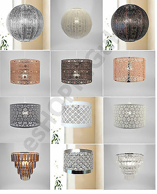 £15.95 • Buy Chandelier Chic Ceiling Light Pendant Shade Crystal Droplet Fitting Easy Fit New