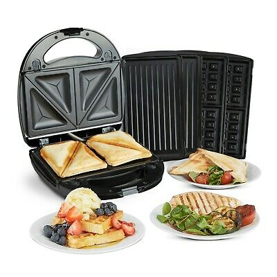 £27.99 • Buy VonShef Sandwich Toaster Waffle Maker Iron Toastie Grill Panini Press 3 In 1