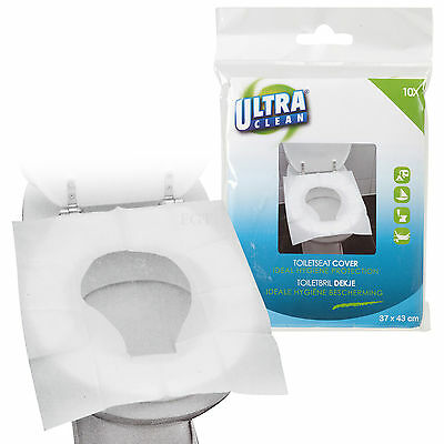 £5.99 • Buy 50 Disposable Toilet Seat Covers Hygienic Flushable Travel Camping Pocket Size