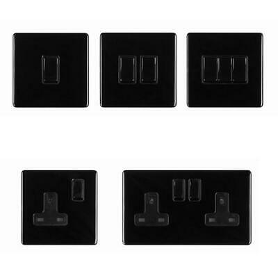 £3.49 • Buy Area 1 - 2 Gang Screwless Polished Black Nickel - Switches/ Sockets/ Plugs