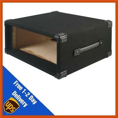 AU59.75 • Buy Pulse 4U Carpet Covered Wooden 19  Rack Sleeve Case Black Carpet Covered